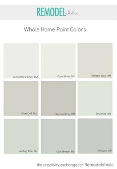Choosing a Whole Home Paint Color. Thank you for saving this Pin from the High Rock Designs' Interior Design Board! Learn more about our furniture and home accessories--hand crafted with American-made welded steel and solid wood--at http://highrockdesigns.com and on Facebook and Instagram.