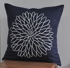 Amelie Flower Throw Pillow Cover