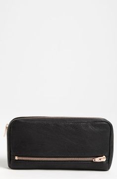 Alexander Wang 'Fumo' Zip Top Leather Pouch Wallet available at #Nordstrom