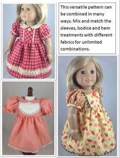 American Girl PDF Pattern for 18 inch doll by mybonbonboutique