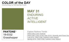 ...y el color de hoy es Saltamontes, un color duradero, activo, inteligente. Más info en http://www.pyma.com/category/tutoriales-y-trucos/teoria-de-la-psicologia-del-color/y-el-color-de-hoy-es-el/