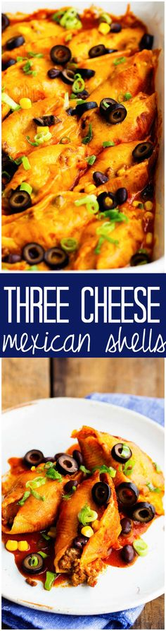These Three Cheese Mexican Shells are full of such amazing flavor and will be a HUGE hit!