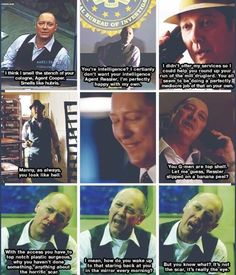 My dark love!!! Red is amazing And #james spader is brilliant!!!