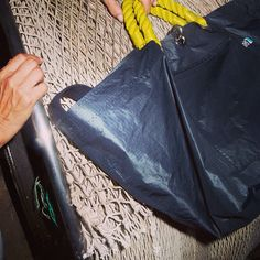 PALMARIA BAG black in sail canvas Made in Liguria, Italy buy on the e.shop www.cabbdesign.com