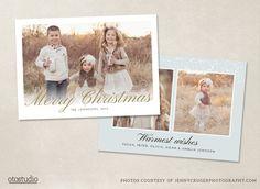 Christmas Photo Card Template by OtoStudio on Creative Market