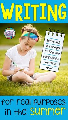 Writing for real purposes in the summer - Ways kids can begin to feel like purposeful writers now! Writing Lessons, Kids Writing, Teaching Writing, Teaching Resources, Teaching Ideas, Teaching Strategies, Writing Ideas, Kindergarten Activities, Writing Activities
