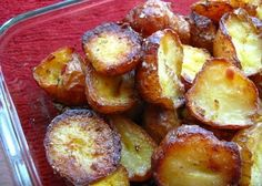 These roasted potatoes are so crispy on the outside and soft on the inside - bet you cannot have just one!