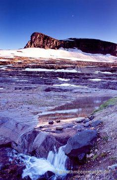 Boulder Pass and Boulder Glacier, Glacier National Park, Montana, USA. Stock Photo