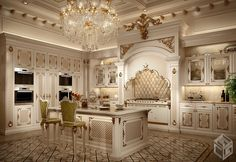 Classic kitchen, Milan, 2014 - Galileos - Home Design Inspiration Home Decor Kitchen, Luxury Bedroom Design, Dream Kitchens Design, Classical Kitchen, Luxury Kitchens, Luxurious Bedrooms, Classic Kitchen Cabinets, Classic Kitchens, Ornate Kitchen