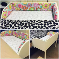 Homemade co-sleeper bassinet. bed with storage, unicorn onesie pajamas 4 fun games, hangers with clips, kids books on cd disney, kids curtains blackout boys. Co Sleeper Bassinet, Baby Co Sleeper, Baby Bassinet, Baby Crib Diy, Baby Cribs, Baby Comforter, Crib Bedding, Colecho Ideas, Baby Bedroom