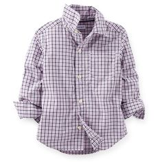 Will: navy/pink plaid Carter's button-down