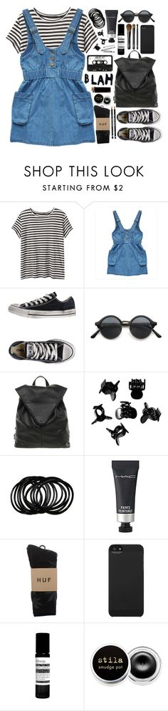 """Not thinking."" by fashionispurebliss ❤ liked on Polyvore featuring Proenza Schouler, Converse, ASOS, H&M, MAC Cosmetics, HUF, Incase, Aesop, Stila and BOBBY"