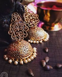 Indian Wedding Jewelry, Indian Jewelry, Bridal Jewelry, Head Jewelry, Fabric Jewelry, Antique Earrings, Silver Earrings, Bollywood Jewelry, Paper Earrings