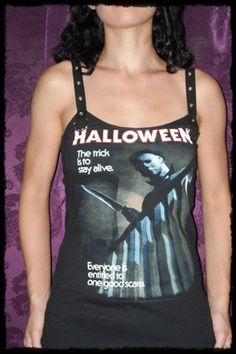 Halloween Mike Myers Strap Top Tank shirt S M L XL