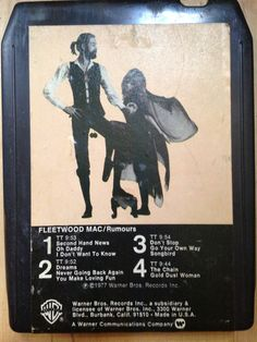 Fleetwood Mac - Rumours - 8 Track Tape - 70s - Classic Rock - Pop - Vintage Daddy Go, 8 Track Tapes, Until Dawn, Go Your Own Way, Single Rose, Champagne Bottles, Fleetwood Mac, Concert Hall, Classic Rock
