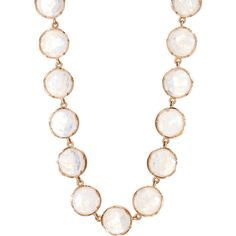 Irene Neuwirth Women's Circular-Link Necklace ($10,515) ❤ liked on Polyvore featuring jewelry, necklaces, no color, clasp necklace, iridescent jewelry, irene neuwirth, hand crafted jewelry and round necklace