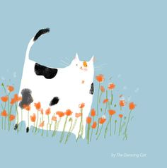 Miss Poppy Spring Cat Print  Calico Cat Cat Lover  by jamieshelman