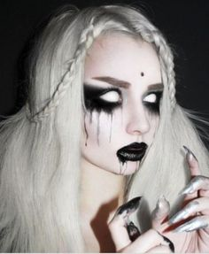 Halloween Fancy Dress Crazy Lens Cosplay Zombie White Coloured Contacts Lens C  Eye Shadow