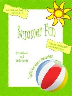 Looking for a fun summer activity that is short, engaging, and educational? Try Summer Fun printables and task cards to keep your child or student actively polishing reading skills over the summer. 16 pages of printables with a minimum of 3 informational text passages on each page. 16 informational text task cards. All answers included. This is also a great cross-curricular lesson combining reading, science, and history skills. Some vocabulary words are bolded to encourage your child to…