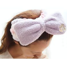6 Colors Big Bow Fleece Hair Band For Make Up SP164927