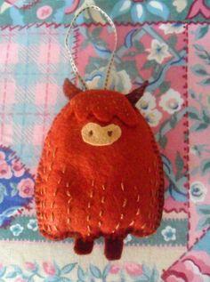 Cute 'Highland Cow' Felt Lavender Sachet. £6,00, via Etsy.