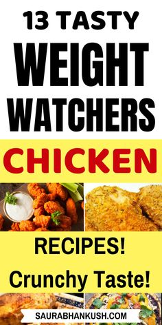 Easy Weight Watchers Chicken Recipes with SmartPoints? Giving 13 Weight watchers Chicken Recipes with Points. Who doesnt love WW Chicken, so why not try healthy weight watchers chicken to lose weight fast while eating tasty foods. Weight Watcher Desserts, Weight Watchers Snacks, Weight Watcher Dinners, Poulet Weight Watchers, Plats Weight Watchers, Weight Watchers Chicken, Weight Loss, Healthy Pizza Recipes, Chicken Recipes