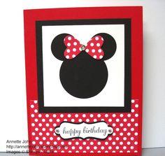 mini mouse card ideas | Minnie Mouse Punch Art