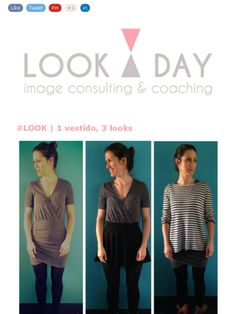 Loving these three different looks all based on one dress. Hooray for creativity in fashion!