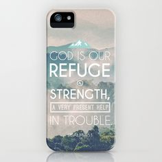 iphone 6 case with bible verses | Typographic Motivational Bible Verses - Psalm 46:1 iPhone & iPod Case
