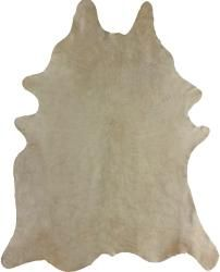 Hand-picked Alexa Natural Cowhide Leather Rug (5' x 7')