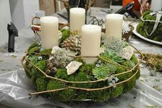 Christmas Advent Wreath, Holiday Wreaths, Christmas Crafts, Natural Christmas, Winter Christmas, Christmas Time, Diy Easter Decorations, Christmas Decorations, Diy Osterschmuck