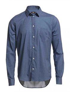 Blå Printed Shirt Stoney Mads Nørregaard skjorter på tilbud - Spar hele 30% - ModeJagten.dk
