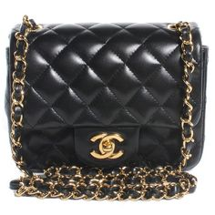 5c4170a0c534 Chanel Black Caviar Classic Flap Extra Mini Bag fits more than you can  imagine. Love. | Chanel handbags | Pinterest | Chanel black, Mini bags and  Caviar