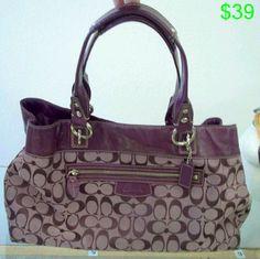 Purple coach purse
