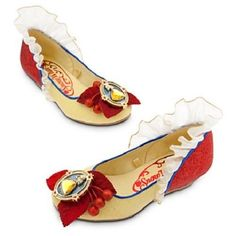 NEW NWT DISNEY STORE SNOW WHITE COSTUME SHOES GIRLS DRESS-UP SPARKLE 2013