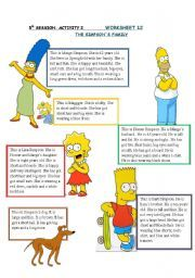 simpson´s family - ESL worksheet by lara_cantabria Vocabulary Worksheets, The Simpsons, Esl, Activities, Classroom Ideas, Students, English, Google, Image