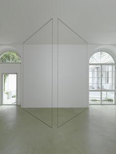 Fred Sandback, Untitled (Sculptural Study, Two-part Construction), 1974-2013, Black acrylic yarn