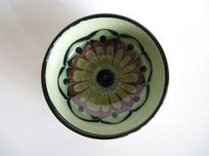 H.A. Kahler Small Bowl Danish Mid Century Modern Vintage Scandinavian Pottery Abstract Flower. $28.00, via Etsy.