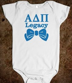 Alpha Delta Pi Onesie (c) - Alpha Delta Pi Legacy - Bows. Cute Baby Shower Gift or Newborn Gift for that special sorority sister - CLICK HERE to purchase :) Buy 1 or 100