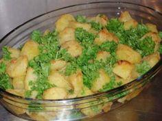 Запечёный картофель с петрушкой и розмарином