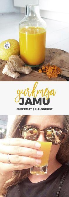 Recept: Jamu - Indonesisk hälsodryck med gurkmeja och ingefära. Juice Smoothie, Smoothie Drinks, Detox Drinks, Healthy Drinks, Smoothie Recipes, Healthy Snacks, Smoothies, Healthy Eating, Simply Recipes