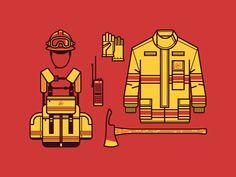 Wildland Firefighter Gear by Ryan Putnam