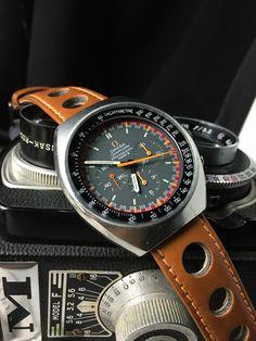 omega speedmaster mark iv leather - Google Search
