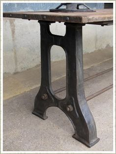 Cast Iron Table Base 2