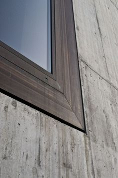 Valerio Olgiati - Window Detail at Schulhaus Paspels Detail Architecture, Concrete Architecture, Amazing Architecture, Contemporary Architecture, Interior Architecture, Architecture Images, Exterior Design, Interior And Exterior, Casas Containers