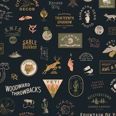 These minimalistic logo designs are really creative and diverse Design Logo, Vintage Logo Design, Badge Design, Web Design, Graphic Design Branding, Rustic Design, Identity Design, Layout Design, Print Design