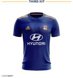 """다음 @Behance 프로젝트 확인: """"Olympique Lyonnais Football Kit 18/19."""" https://www.behance.net/gallery/63042709/Olympique-Lyonnais-Football-Kit-1819"""