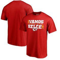 Travis Kelce Kansas City Chiefs NFL Pro Line by Fanatics Branded Vamos T-Shirt - Red - $27.99