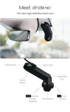 Dride 4K | Next gen connected dashcam by Dride, Inc. — Kickstarter Awesome Gadgets, Dashcam, Oakley Sunglasses