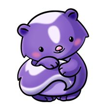 Purple Skunk - Lots of clip art on this site Cute Animal Clipart, Cute Cartoon Animals, Cute Clipart, Baby Animals, Cute Animals, Kawaii Drawings, Easy Drawings, 365 Kawaii, Kawaii Doodles